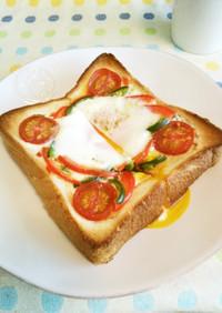 簡単♪カラフルエッグトースト