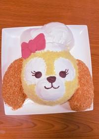 ふわふわ〜クッキーアンの立体キャラケーキ