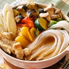 マロニーと夏野菜のカレー鍋