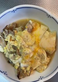 簡単サッと出来ちゃう舞茸と豆腐の卵とじ