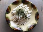 長芋の千切り方法の写真