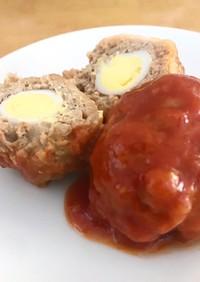 お弁当用☆茹でミートボールうずらの卵入り