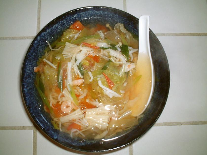 ☆アジア風の温かい素麺(にゅう麺)☆