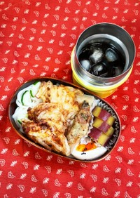 流水麺とかき揚げ弁当