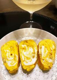 白ワインのお供に!刻み生姜のだし巻き卵
