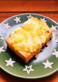 厚揚げのネギマヨチーズ焼き