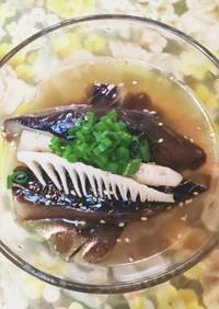 真竹と茄子の煮浸しです。