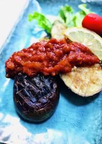 茄子のステーキガーリックトマトソース