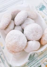フープロで米粉スノーボールクッキー