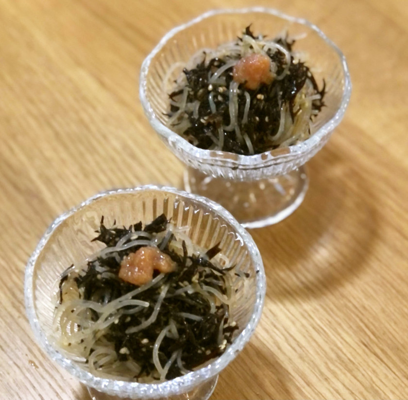 【ダイエット】春雨とひじきの梅肉和え
