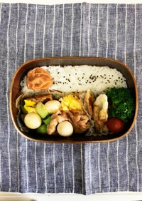 青梗菜と豚肉炒め弁当 〜高校生男子弁当〜