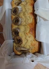 バナナパウンドケーキ。
