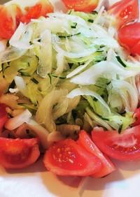 きゅうりと新玉ねぎのさっぱりサラダ