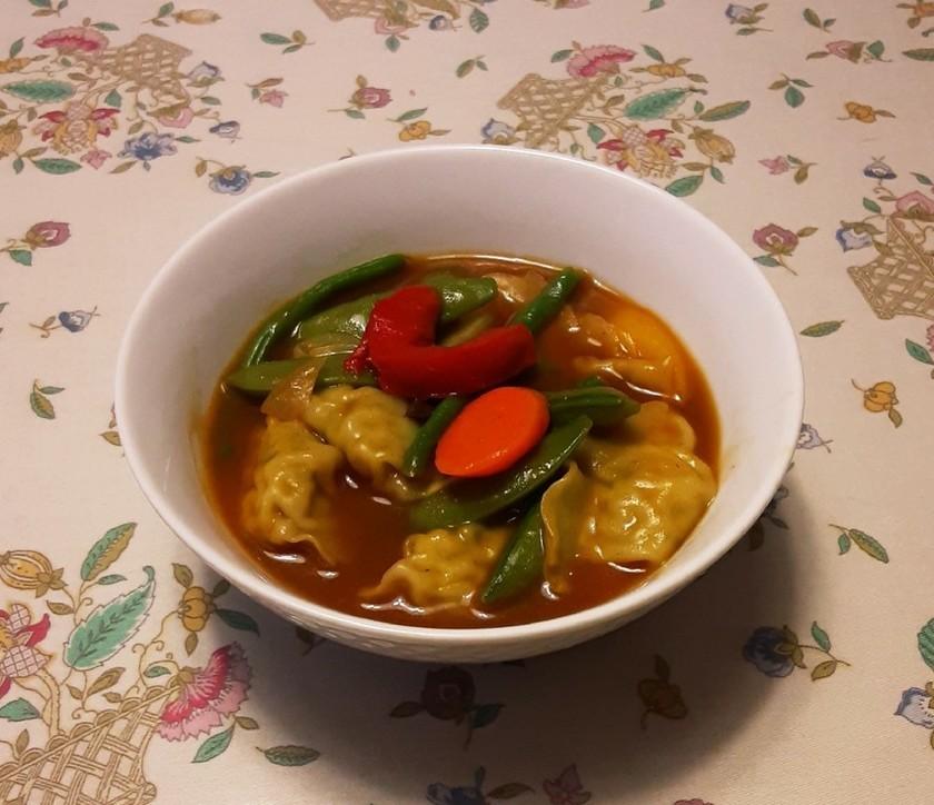 ★簡単★餃子カレースープ