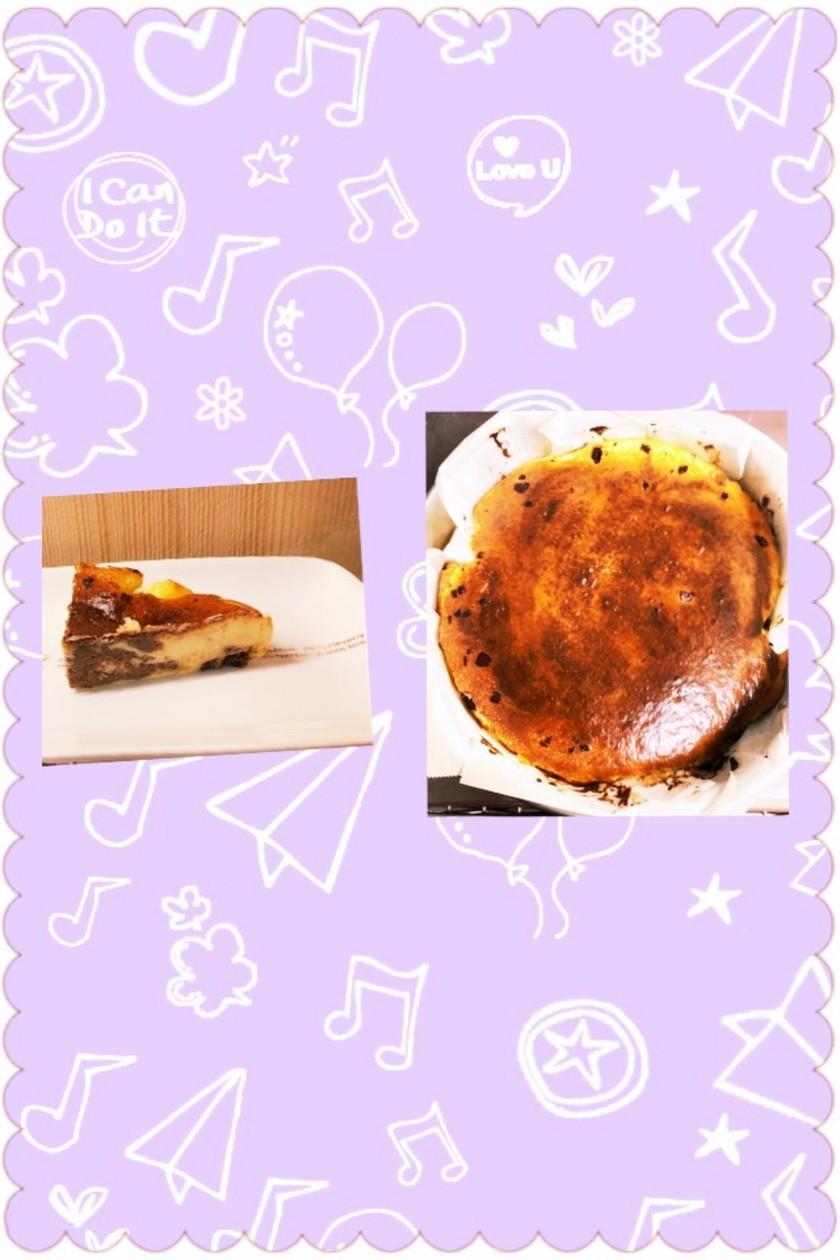 簡単バスク風ココア&チョコチーズケーキ