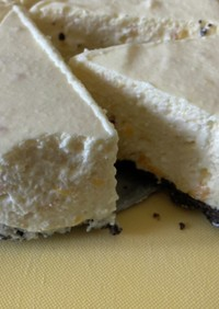 梅ジャムレアチーズケーキ