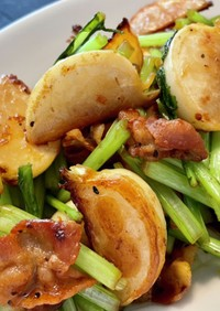 豚ばらと蕪の炒め物