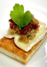 ピンチョス:サバフレークオイル漬けチーズ