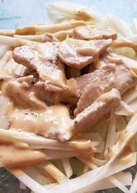 鶏胸肉 大根 マヨ醤油 サラダ