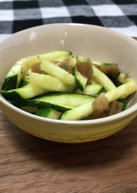 簡単 ズッキーニと搾菜の和え物