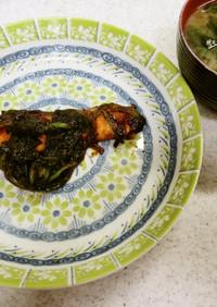 ✨鮭とほうれん草の韓国風炒め&味噌汁