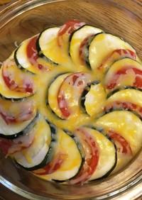 ズッキーニとトマトのオープンオムレツ