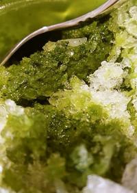 甘味料で抹茶かき氷シロップ