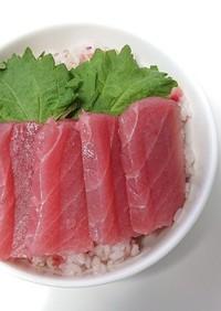 みょうがたっぷり酢飯の海鮮丼♪