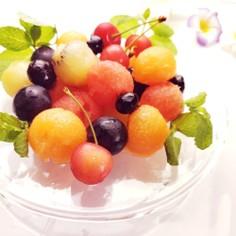 カラフルまん丸フルーツ盛り合わせ♪
