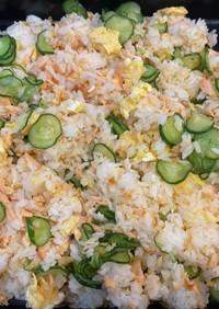 鮭と卵ときゅうりの混ぜ寿司〜何食べ#26