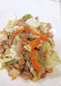 焼鳥と野菜のオイマヨ炒め