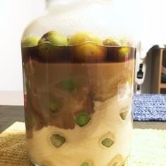 きび砂糖、りんご酢の梅シロップ