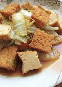 煮汁のしみた白菜と厚揚げのほっこり煮
