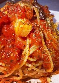 トマト缶で簡単アラビアータ