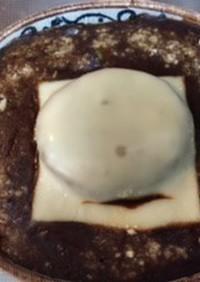残り物で作る焼きカレー(ハンバーグ入)