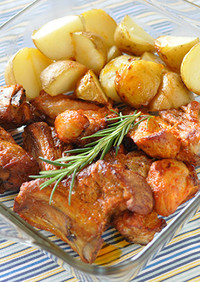 豚スペアリブと新じゃがいものオーブン焼き