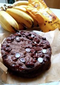 ダイエット中♡のバナナチョコチップケーキ