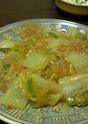 麻婆豆腐の素で春雨と白菜の蒸し煮