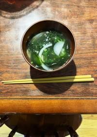国産生ワカメと小葱の根菜蕗味噌汁