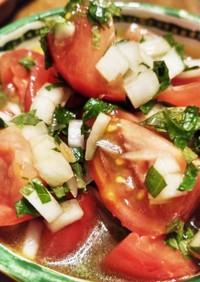 シソ大量消費・シソ玉ねぎトマトサラダ