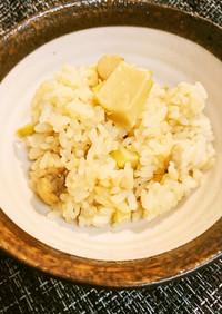 舞茸軸と細筍の炊き込みご飯