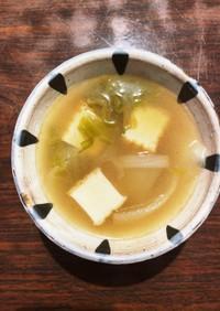 厚揚げ&レタス根菜味噌汁