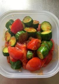 きゅうりとトマトの四川炒め