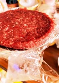 FPで牛肉100%ハンバーガー用パテ