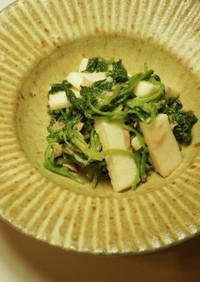長芋とツナとほうれん草の和え物