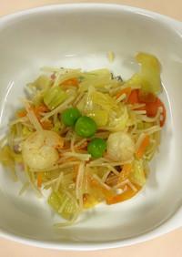 好きな野菜と炒める!えび入りビーフン炒め