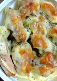 鶏肉とジャガイモのたっぷりチーズ焼き