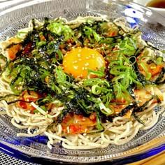 韓国風*キムチ納豆和え蕎麦