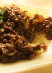 粗挽き合い挽き肉と新玉ねぎのキーマカレー