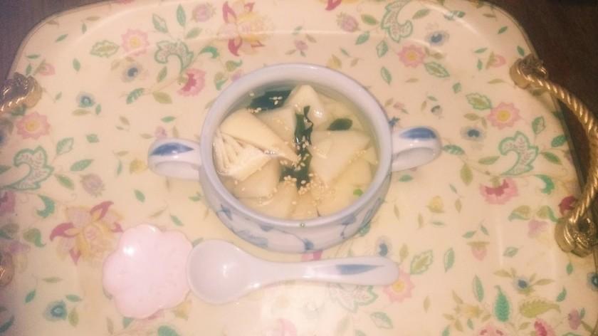 初夏にも!筍の水煮とワカメの冷製お吸い物